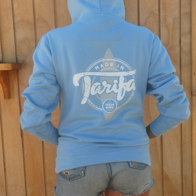SUDADERA MADE IN TARIFA CELESTE UNISEX