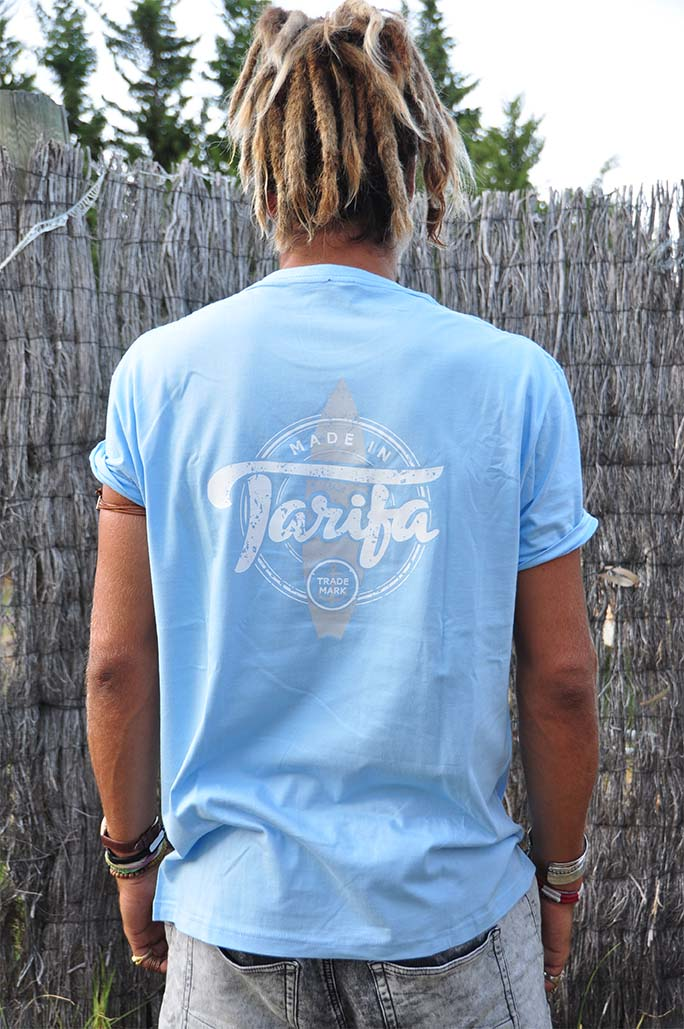 CAMISETA MADE IN TARIFA CELESTE 2