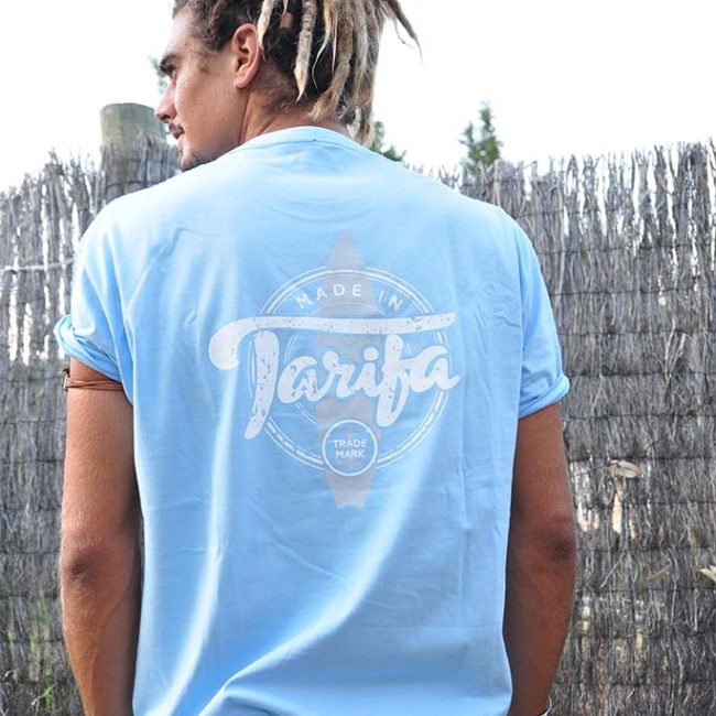 CAMISETA MADE IN TARIFA CELESTE 1