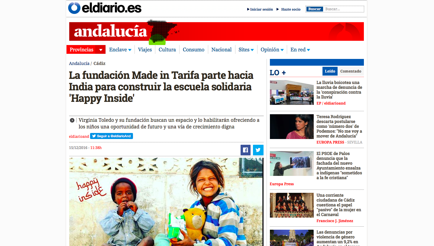 Notas de Prensa FUNDACIÓN MADE IN TARIFA