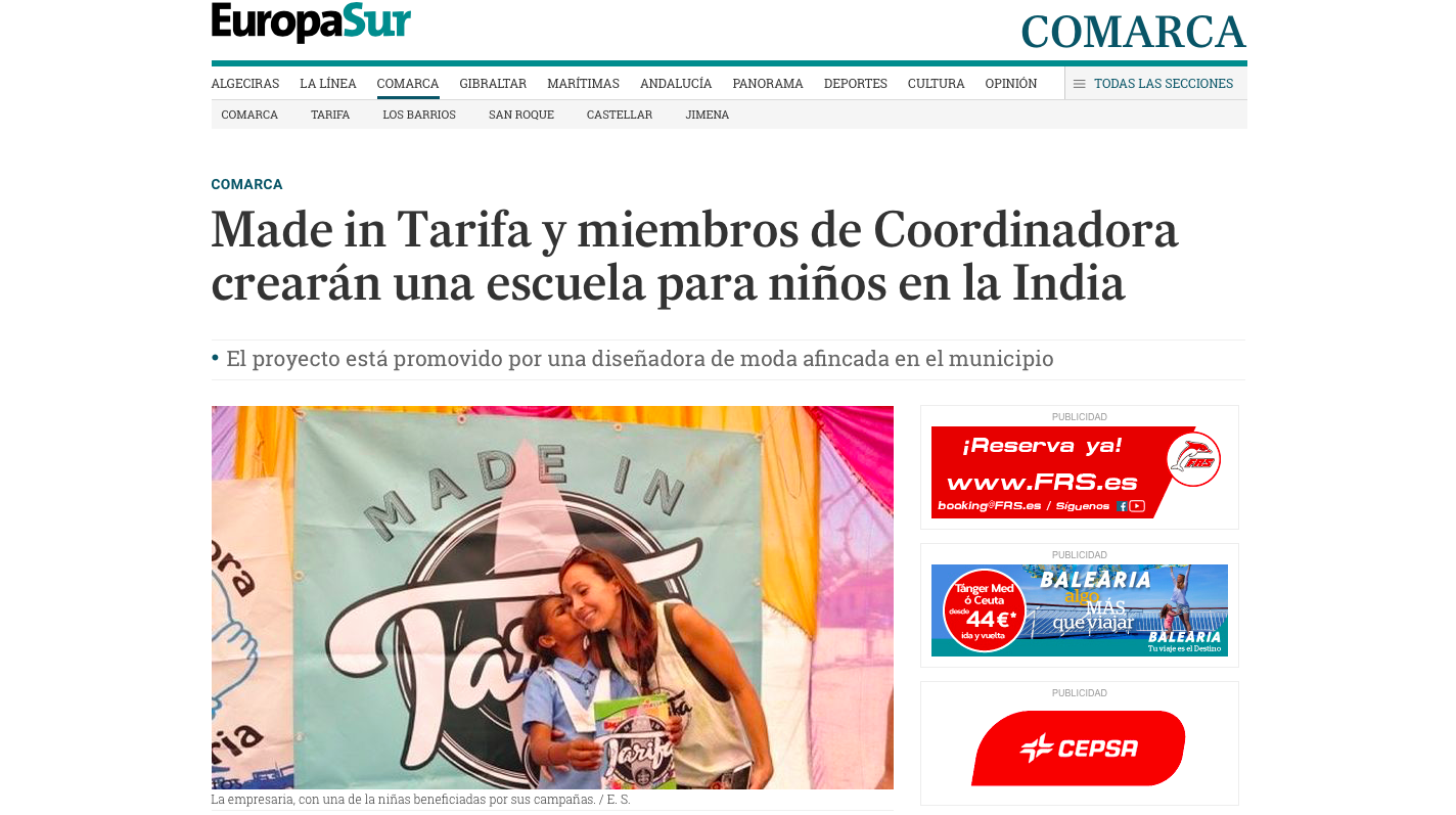 Nota de prensa Made in Tarifa