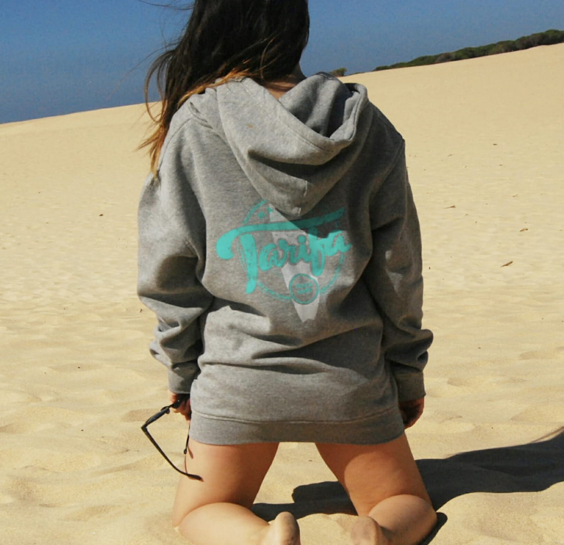 SUDADERA MADE IN TARIFA GRIS