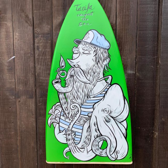 OFERTAS TABLA SURF VERDE RECICLADA TARIFA PLAYA DECORACIÓN
